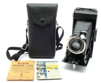 Near Mint Kodak Six-16 Improved Black Camera With Case #31662
