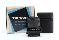 Mint Topcon High Magnification Waist Level Finder with Box & Case #32742