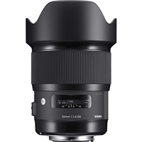 Sigma 20mm f/1.4 DG HSM Art Lens for Nikon F