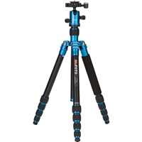 MeFOTO RoadTrip Aluminum Travel Tripod Kit (Blue)(6081)