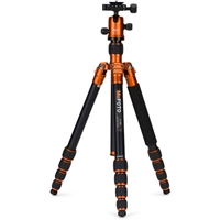 MeFOTO RoadTrip Aluminum Travel Tripod Kit (Orange) 19923