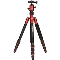 MeFOTO RoadTrip Aluminum Travel Tripod Kit (Red)