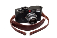 "Decrypto Handmade Classic Pad Chestnut Brown Leather Camera Strap 44""  26172"