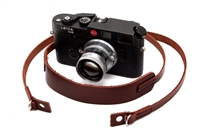 "Decrypto Handmade Chestnut Brown Classic Pad Leather Camera Strap 45""  26168"