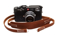 "Decrypto Handmade Classic Pad Pebble Brown Leather Camera Strap 44""  26175"