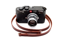 "Decrypto Handmade Classic Chestnut Brown Leather Camera Strap 45""  26176"