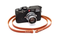 "Decrypto Handmade Classic Milled Tabac Brown Leather Camera Strap 44""  26178"