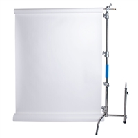 "Savage Stainless Steel C-Stand Kit with 53"" x 18' White Seamless Paper (9.5')"