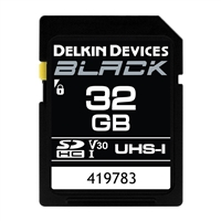 Delkin 32GB SDHC Black Memory Card