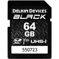 Delkin 64GB SDXC Black Memory Card