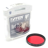 Excellent Tiffen 55mm Red 1(25) Filter With Case #F1071