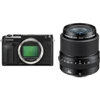 FUJIFILM GFX 50R Medium Format Mirrorless Camera with 45mm Lens Kit