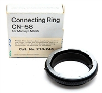 Mint Mamiya Connecting Ring CN-58 for Mamiya 645 (Catalog #210-245) w/Box #M1355