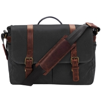 ONA Brixton Camera/Laptop Messenger Bag (Canvas, Black)