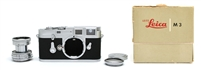 Rare Serial Number & Engraving, Leica M3 SS Rangefinder Camera w/ 5cm f2 Lens