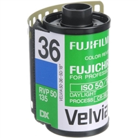 Fujifilm Fujichrome Velvia 50 Professional RVP 50 Color Transparency Film (35mm Roll Film, 36 Exposures)