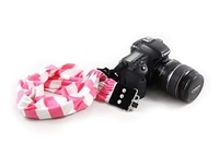 Pink Stripe Scarf Camera Strap 19976