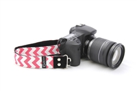 "Chevron Pink 1.5"" DSLR Camera Strap 19948"