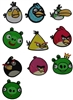 ANGRY BIRDS EMBROIDERY MACHINE DESIGNS - PACK OF 10 COLLECTION 4X4