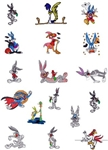 BUGS BUNNY EMBROIDERY MACHINE DESIGNS - PACK OF 17 - 4X4 GORGEOUS COLLECTION