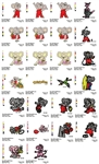 BLINKY BELL CHARACTERS EMBROIDERY MACHINE DESIGNS PATTERNS