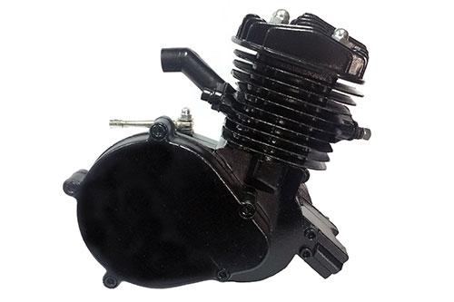 Black Super Jet 80/66 Bicycle Engine Kit - Balanced Crank