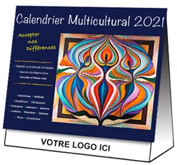 French and English desktop Multicultural Calendar