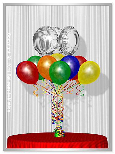Balloon Bouquet Style  #13  (13 Latex, 3 Foils)