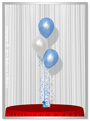 It's A Boy <b>Balloon Bouquet</b> #1 (3 Latex Balloons)