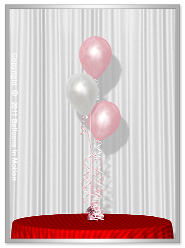 It's A Girl <b>Balloon Bouquet</b> #1 (3 Latex Balloons)