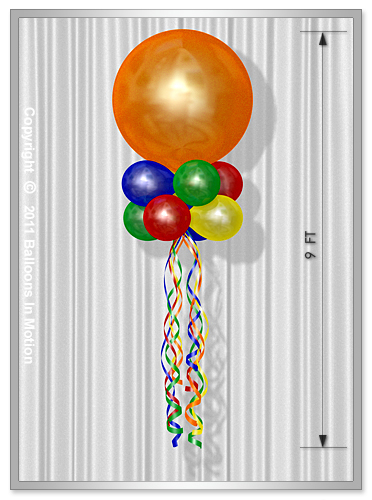 "Double Stacked <b>Balloon Kite</b> (36"" Balloon Topper)"