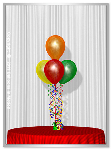 Birthday <b>Balloon Bouquet</b> #2 (3 Latex & 1 Latex)