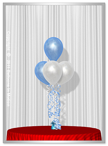 It's A Boy <b>Balloon Bouquet</b> #2 (3 Latex & 1 Latex)