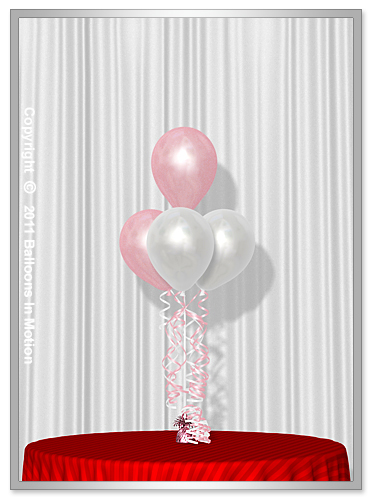 It's A Girl <b>Balloon Bouquet</b> #2 (3 Latex & 1 Latex)