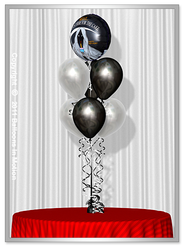 <b>Over The Hill  Balloon Bouquet</b> #2 - (6 Latex & 1 Foil)