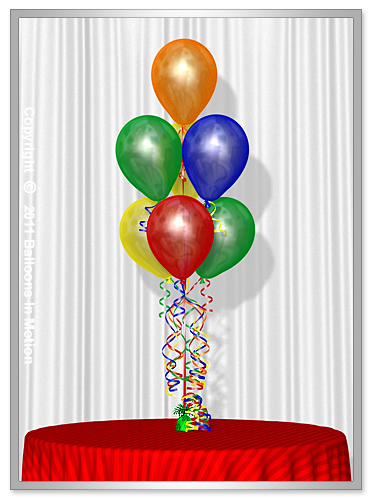 Stacked <b>Balloon Bouquet</b> #3 - (7 Latex Balloons)