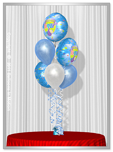 <b>It's A Boy Balloon Bouquet</b> #3 - (4 Latex & 3 Foil)