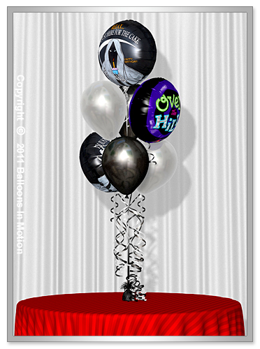 <b>Over The Hill  Balloon Bouquet</b> #3 - (4 Latex & 3 Foil)