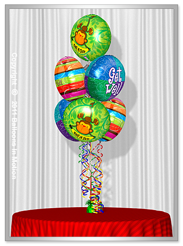 <b>Get Well Balloon Bouquet</b> #4 - (7 Foil Balloons)