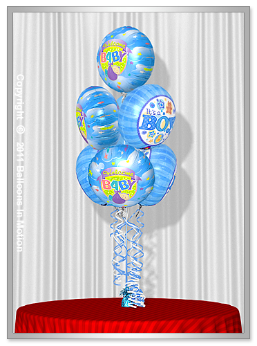 <b>It's A Boy Balloon Bouquet</b> #4 - (7 Foil Balloons)