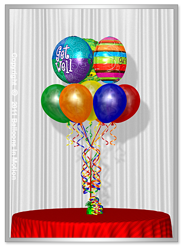 <b>Get Well Balloon Bouquet</b> #5 - (7 Latex & 3 Foil)