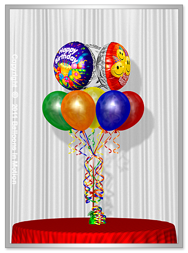 <b>Birthday Balloon Bouquet</b> #7 - (7 Latex & 3 Foil)