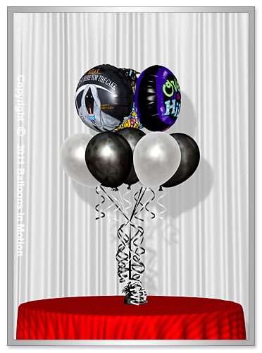 <b>Over The Hill  Balloon Bouquet</b> #5 - (7 Latex & 3 Foil)