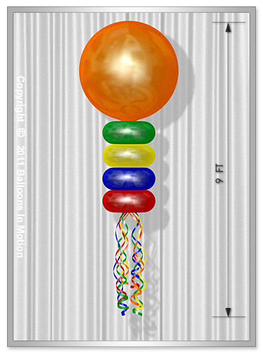 "Donut Stacked <b>Balloon Kite</b> (36"" Balloon Topper)"