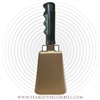 Quality Desert Gold Cowbell - Blank