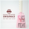 YOTC Hand Painted Cowbell Originals - Breast Cancer Awareness