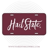 Hail State Brush Strokes License Plate