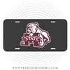 Graphite Bulldog M State License Plate