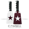 Maroon Star Cowbell
