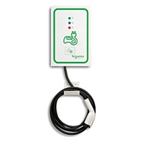 This is a photo of a Schneider ev230wsr-r EVlink Residential Wall Mount Car Charging Station